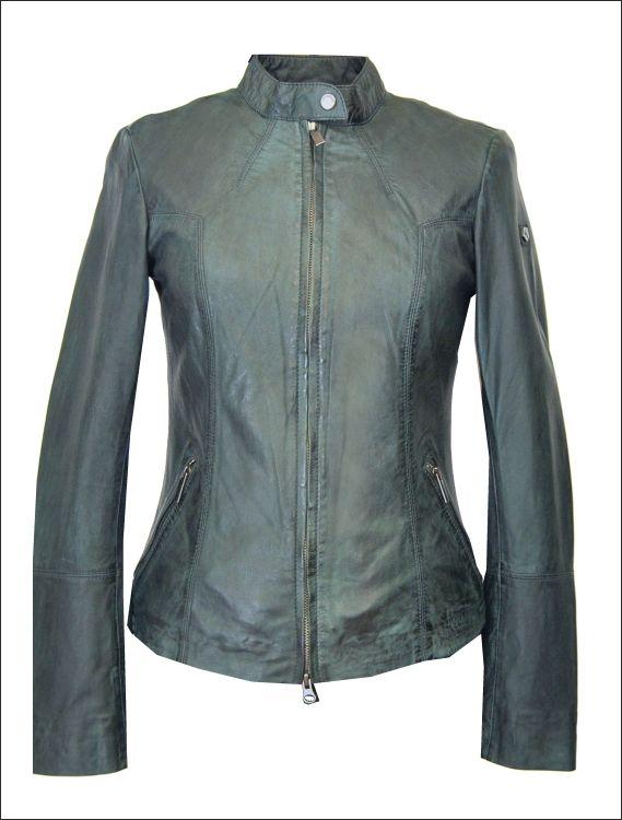 Γυναικείο δερμάτινο μπουφάν Μοντέλο: ELIANE Δέρμα: nappa vintage washed ocean Τιμή: 312€
