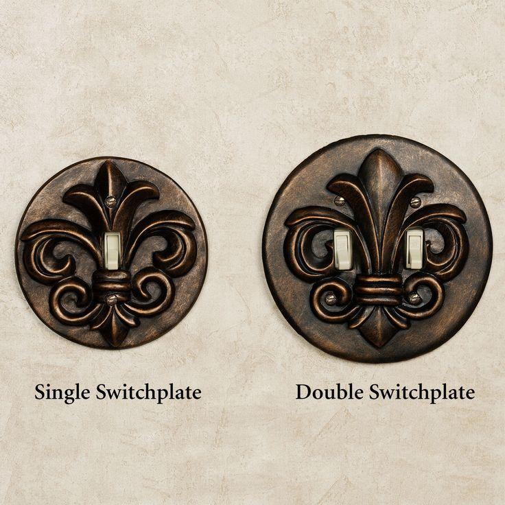 Regal Fleur De Lis Single Switchplate Antique Bronze 13