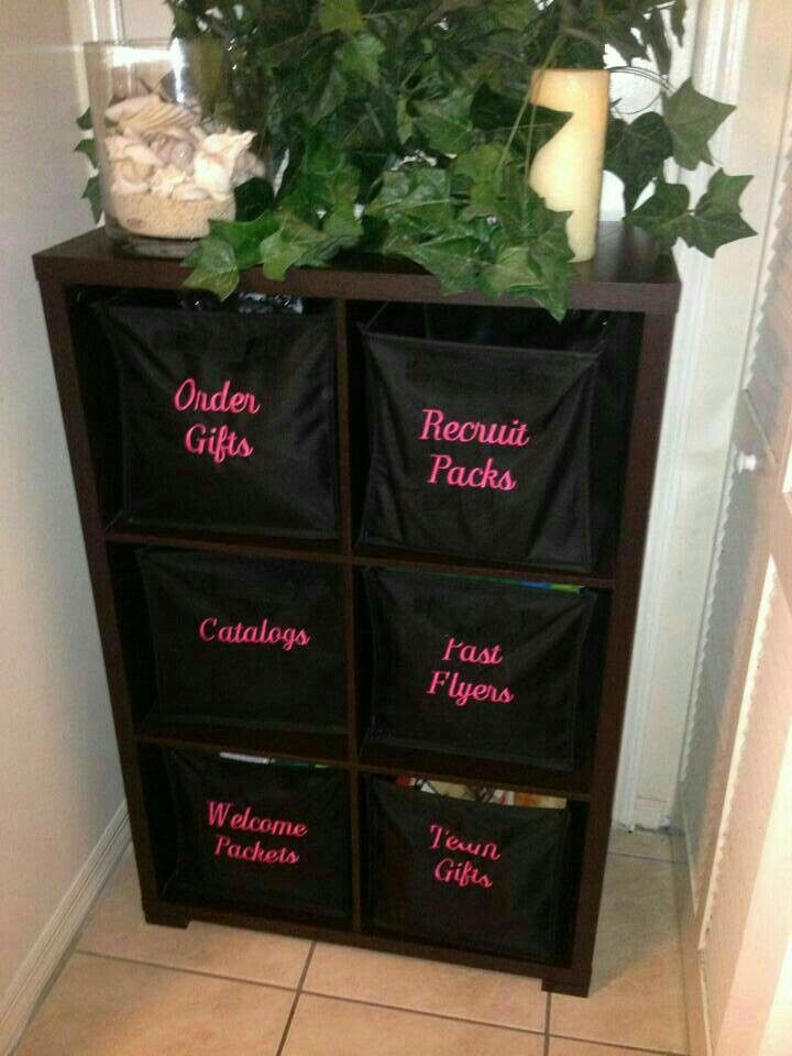 Get organized with this cute idea!!
