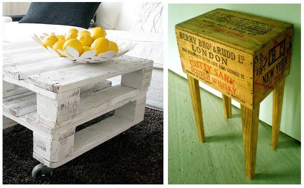 Nog een paar pallets of een oude bedrukte kist over maak for Budget meubels