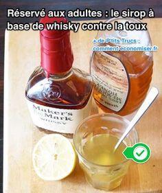 Ce remède maison est à base de Whisky, de miel, et de jus de citron. Évidemment, c'est un sirop uniquement pour les adultes !  Découvrez l'astuce ici : http://www.comment-economiser.fr/sirop-a-base-de-whisky-contre-la-toux.html?utm_content=buffer2cd64&utm_medium=social&utm_source=pinterest.com&utm_campaign=buffer