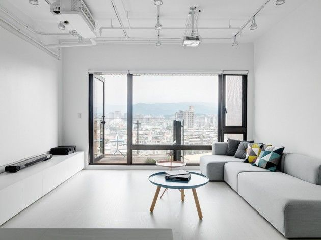 Tai & Architectural Design have recently completed the Tsai Residence, a minimalist apartment located in Taipei.