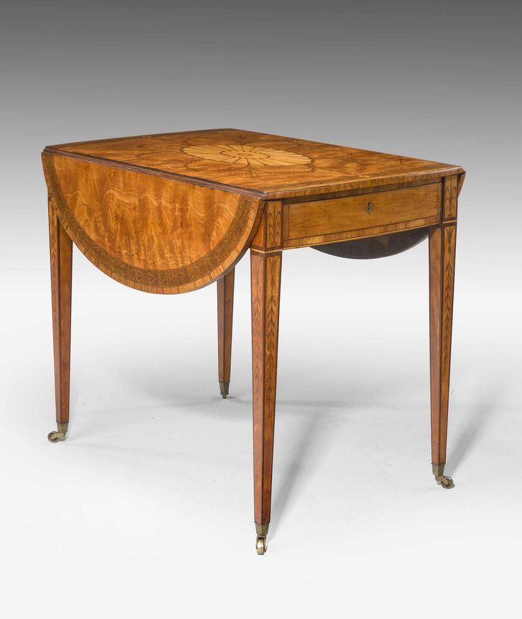C1780 A Finely Figured Late 18th Century Satinwood Pembroke Table The Top With Central
