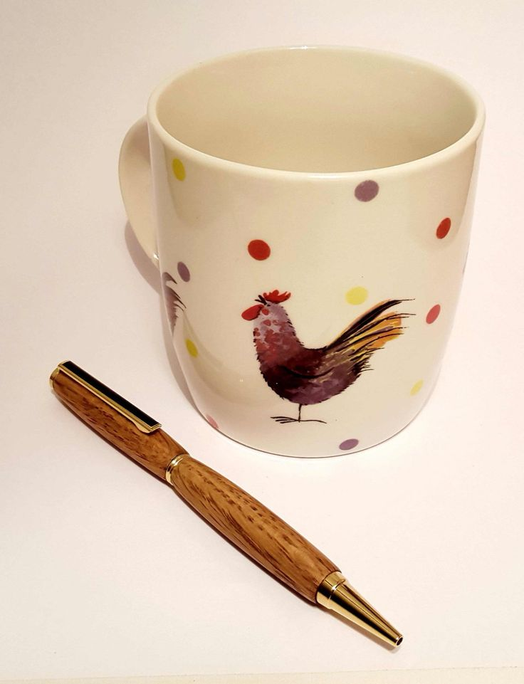 Beautifully handcrafted wooden pen made from red oak by OakWoodIreland on Etsy