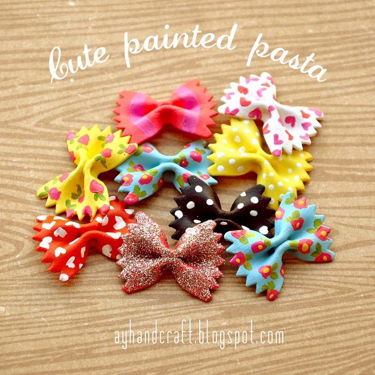 Cute Painted Pasta - Pasta decorada   Agus Yornet Blog