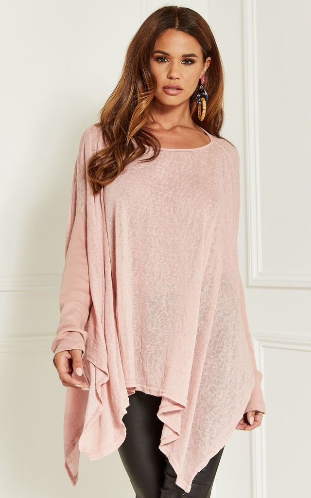 8b1183e6d86 Silk Fred - Lila Rose Dusty Pink Oversized Batwing Top One Size £32 ...
