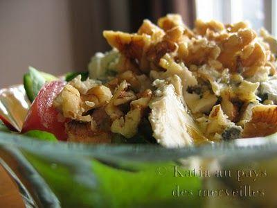 Salade de bette à carde au fromage bleu