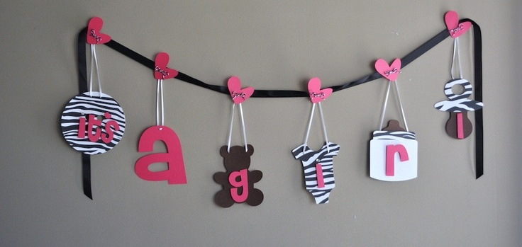 Its a girl...zebra: Crafts Ideas, Girls D, Artsy Fartsi, Fartsi Crafts, Zebras Prints, Girls Zebras, Addison Rooms, Baby Shower, Baby Stuff