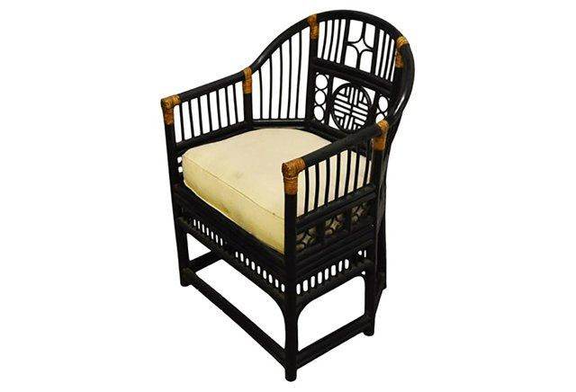 Burmese Rattan Polo Chair