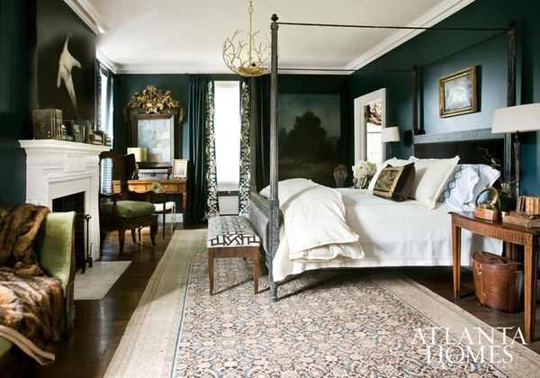 Design Crisis  in love with this deep dark dramatic green!!!