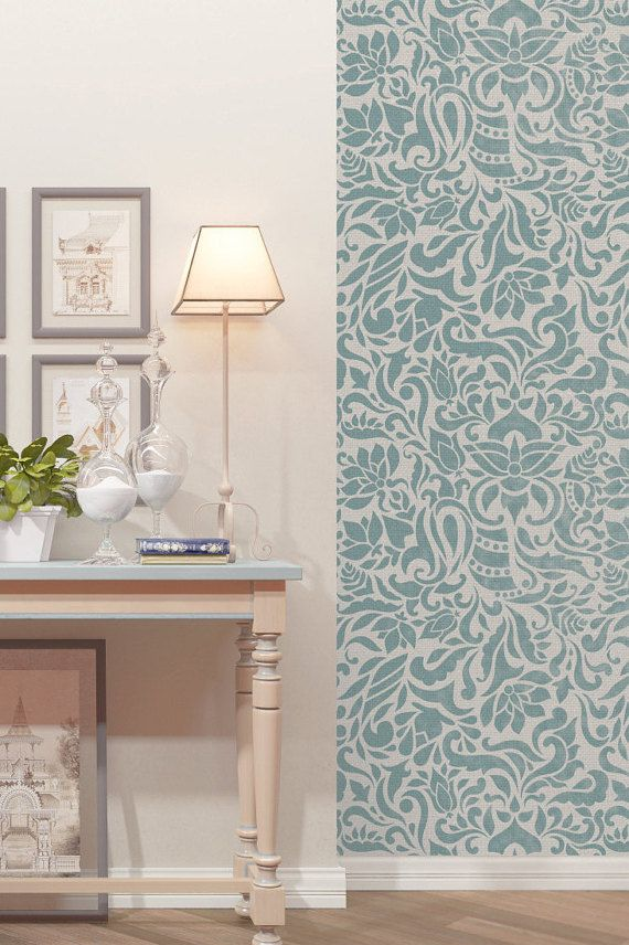 Seamless Floral Pattern Wall Stencil  Reusable by StencilsLabNY