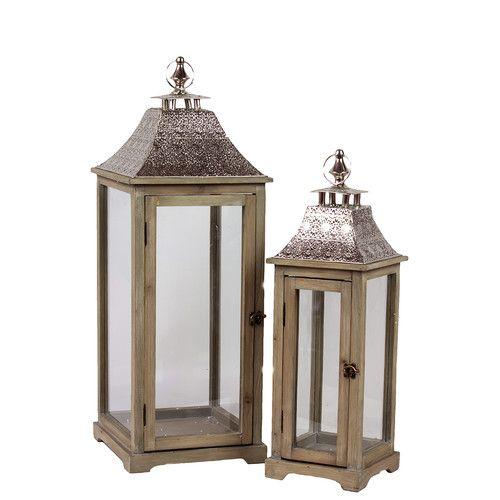 Found it at Wayfair - 2 Piece Wooden Lantern Set