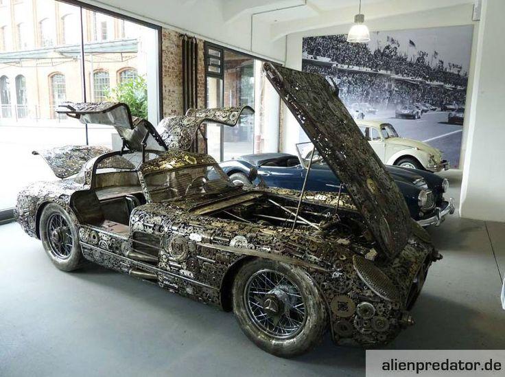 17 best images about scrap metal art on pinterest for Mercedes benz scrap yard