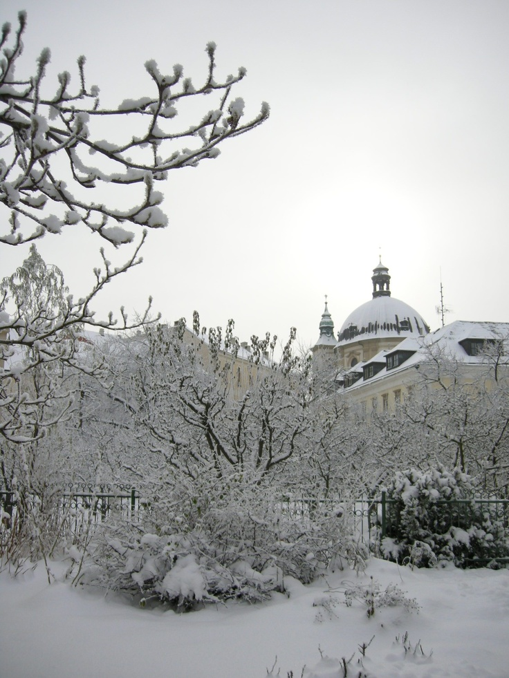 Winter in Kromeriz, Czech Republic