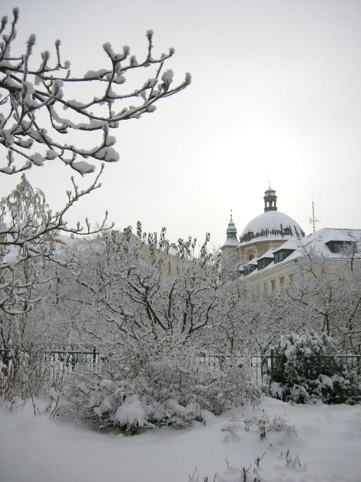 Winter in Kromeriz, Czech Republic