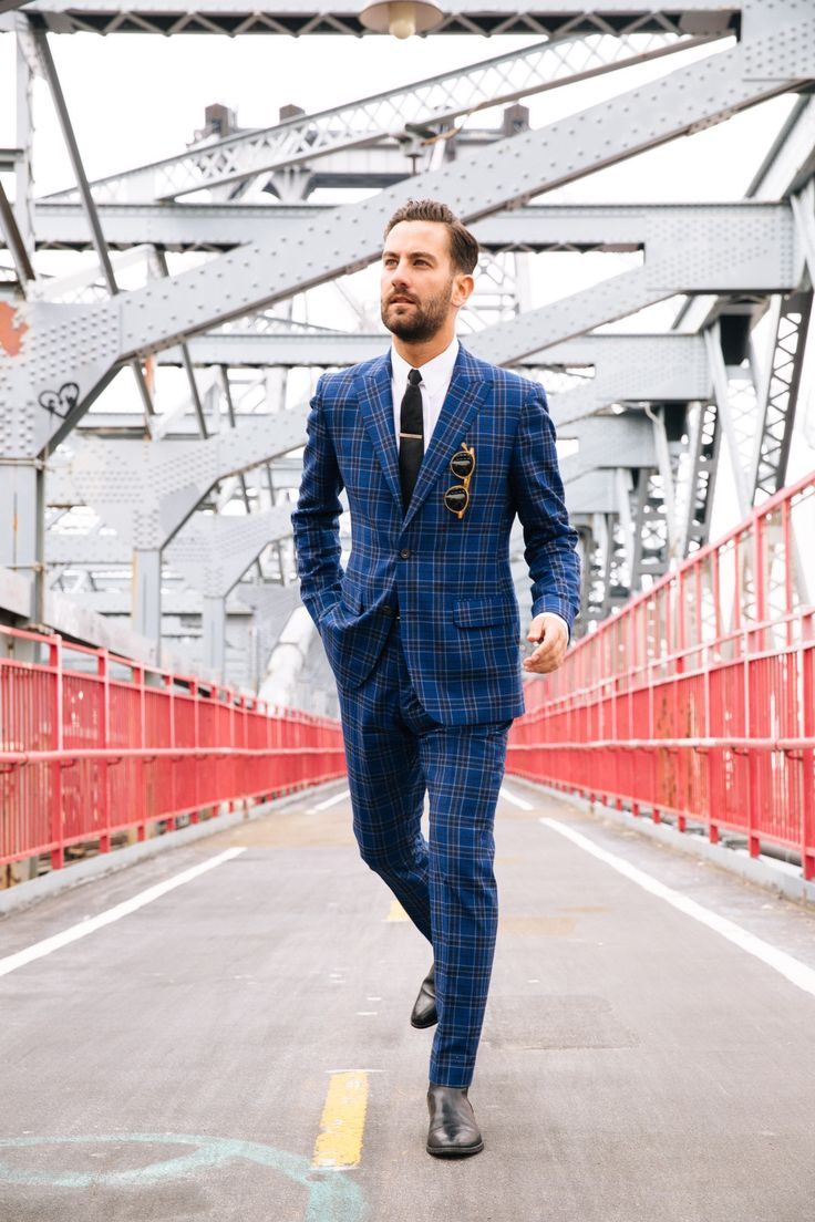 Suit: Hardy Amies, Boots: Sandro, Shirt and tie: Brooks ...