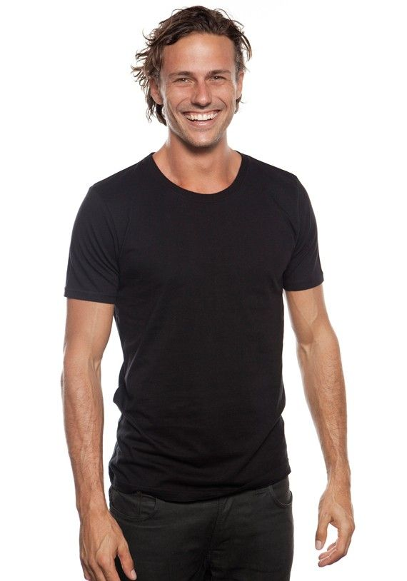Men's Organic Slim Fit T-Shirt Black