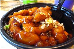 Hungry Girl's Orange Chicken- Half the fat of Panda Express! Unfortunately, this is a pic of the Panda Express version that the original pinner chose for this pin...