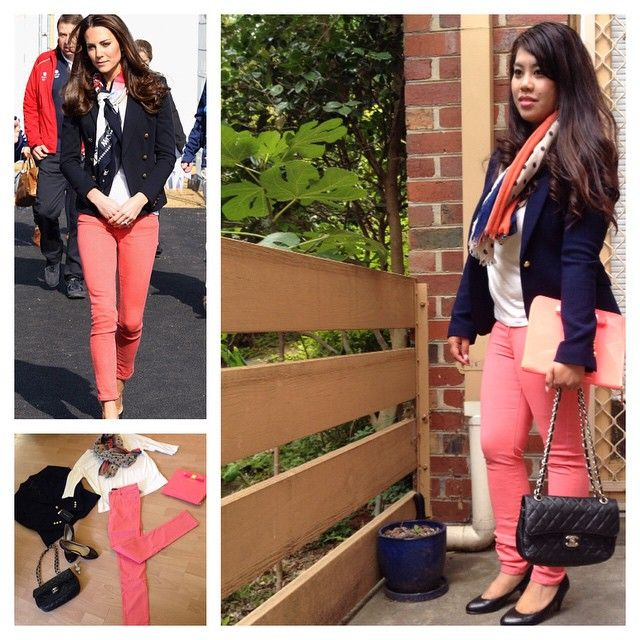 Day #11 - 'The Casual Worker#2'  Inspired by #katemiddleton still casual yet elegantly chic and stylish.  Blazer by - @zara_worldwide  Top by - @zara_worldwide  Bag by - @chanelofficial  iPad clutch by - @ted_baker  Shoes by - @wittnershoes  Watch by - @dkny  Card by - @forevernew  Style tip - take this look out to business functions at @australianopen just like #katemiddleton out in #London2014olympics