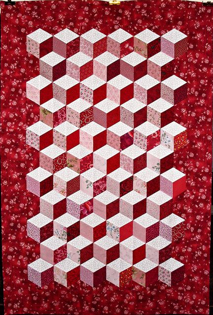 T-Sweet Illusions by Linda Rotz Miller Quilts & Quilt Tops, via Flickr
