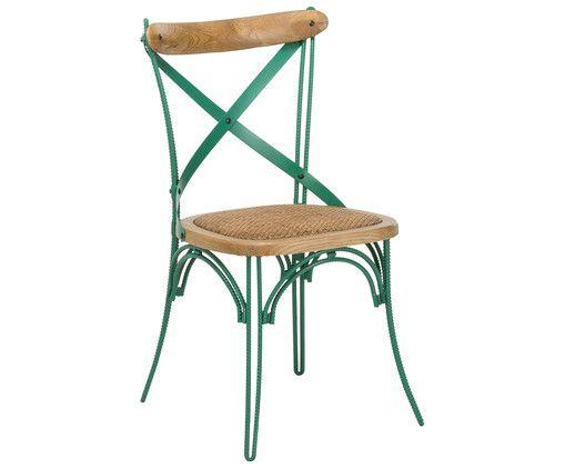 Ein Stuhl wie aus einem Pariser Straßencafé! Entscheiden Sie sich mit EIFFLE für einen schönen Vintage-Akzent rund um den Esstisch und fühlen Sie, wie sich das wunderbare Flair auf die ganze Wohnung ausbreitet. Aus grünem Metall gefertigt und mit hölzernen Details vollendet ist Stuhl EIFFLE ein cooler Sitzplatz im Shabby Chic!