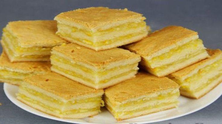 Нежнейшее пирожное с лимонно-апельсиновой начинкой