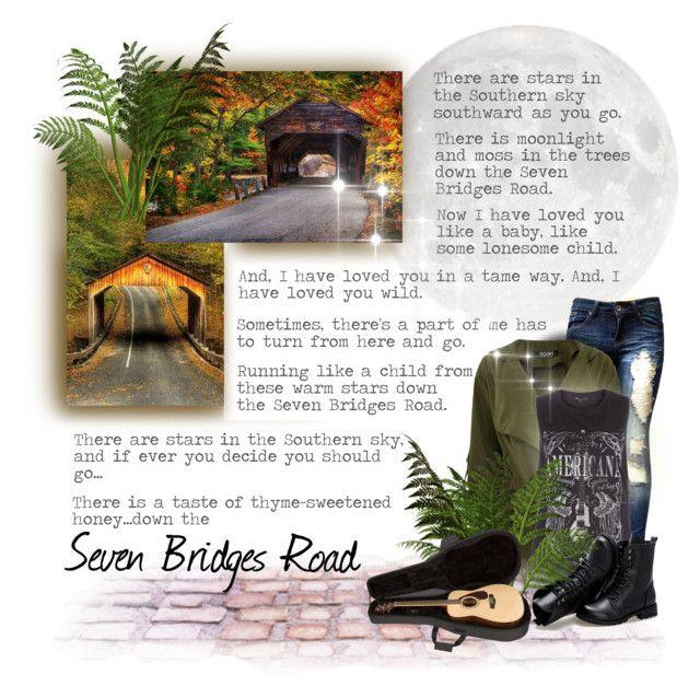"""Seven Bridges Road"" by maison-de-forgeron ❤ liked on Polyvore featuring Sunsteps"