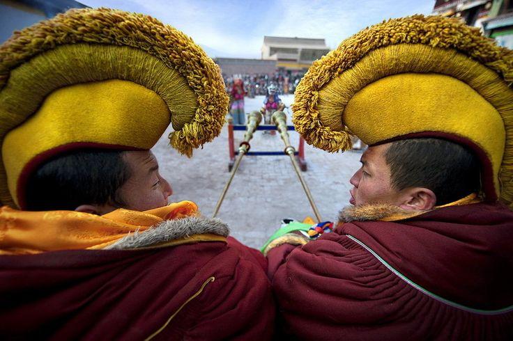 Tibetan monks Tibetan national culture gallery