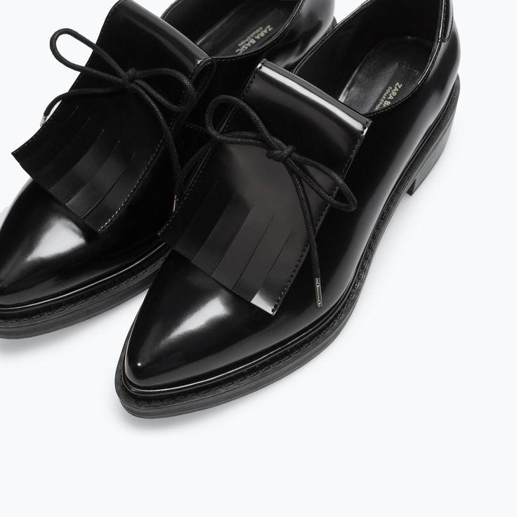 {BLUCHER WITH FRINGES from Zara in Black - under $100}