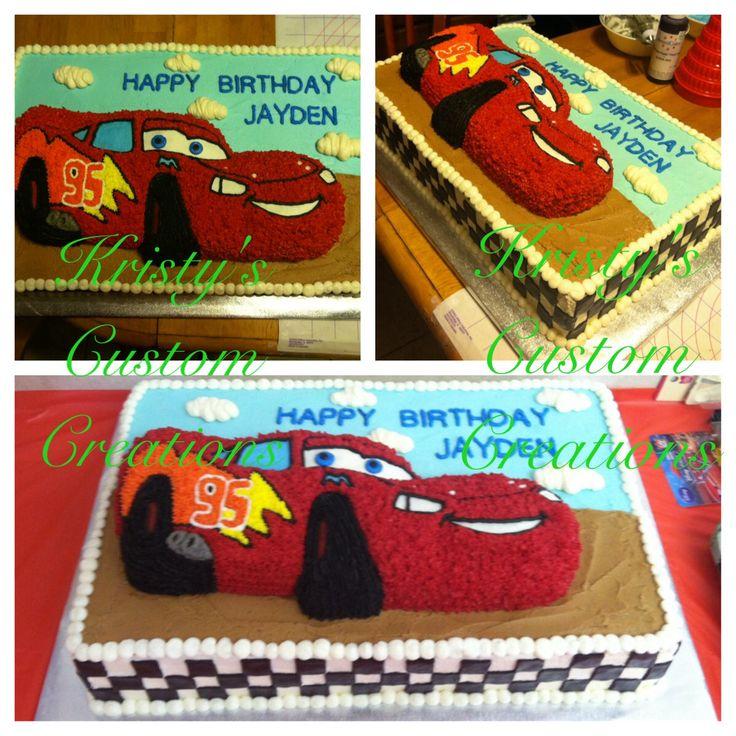 Disney Cars theme cake by Custom Cakes By Tracee via Flickr