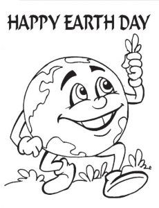 Earth Day Coloring Page For Pre School