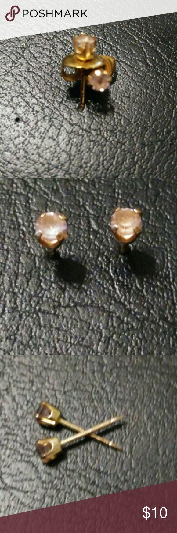 10 karat gold starter earrings Beautiful 10 karat gold starter earrings with Jewelry Earrings