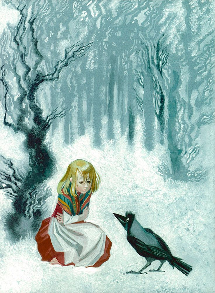 Illustration by Nika Goltz for the Snow Queen