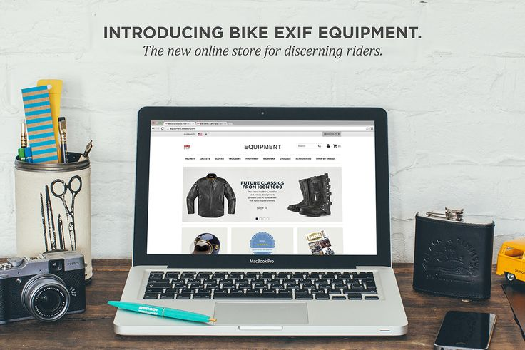 EQUIPMENT: The Bike EXIF motorcycle gear store. Motorcycle jackets, helmets and gear with fast shipping, 5-star service and top brands such as Belstaff, Hedon, ICON 1000 and REV'IT! Step inside, and feel free to browse around. We hope you like what you see.