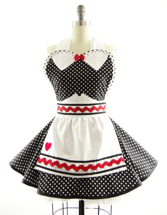 Retro Apron I Love Lucy Sexy Womans Aprons Vintage Apron Style Lucille Pin Up Character
