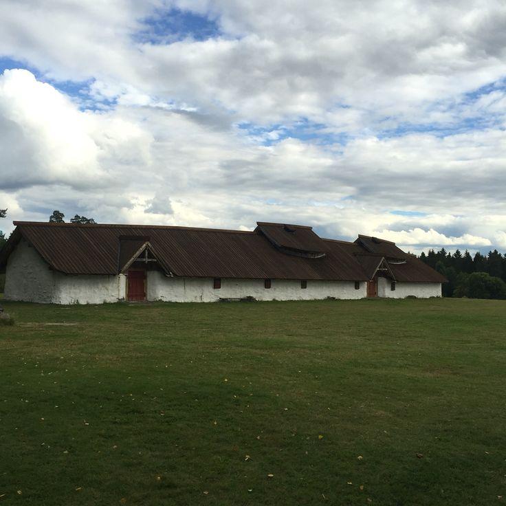 Ringerike viking museum. Old viking house, Hringariki