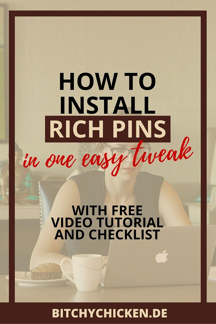 So, you want to install rich pins in your site the easiest way possible? Yes, it can be possible! In this post, I shared how to install rich pins in one easy tweak plus free video #tutorial and #checklist you can download to guide all throughout the process of the Pinterest pins activation. No need to get terrified with enabling @Pinterest rich pins in your blog or online shop, you can do it in a split second! #blogging #richpins #tips #Pinterest #installrichpins #nontechie #creativepreneur