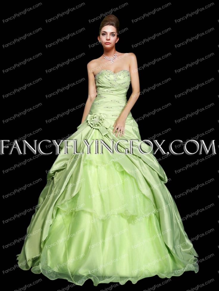 fancyflyingfox.com Offers High Quality Charming Dropped Waist Lime Green Quinceanera Dress ,Priced At Only US$258.00 (Free Shipping)
