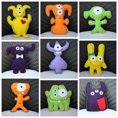 Adopt a Moster!  DIY Felt Monster- 22 different design inspirations