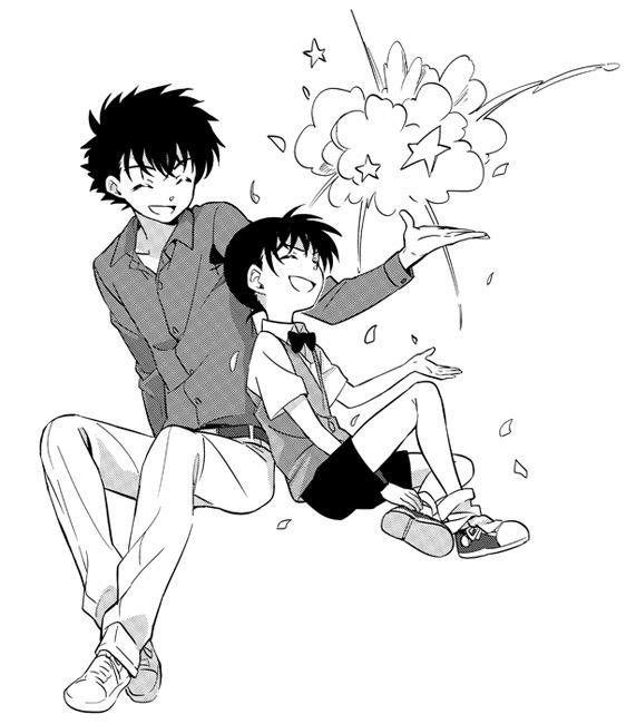 Kaito Kuroba/Kaito Kid and Conan/Shinichi bởi ねむい (@nemui_sec) | Twitter
