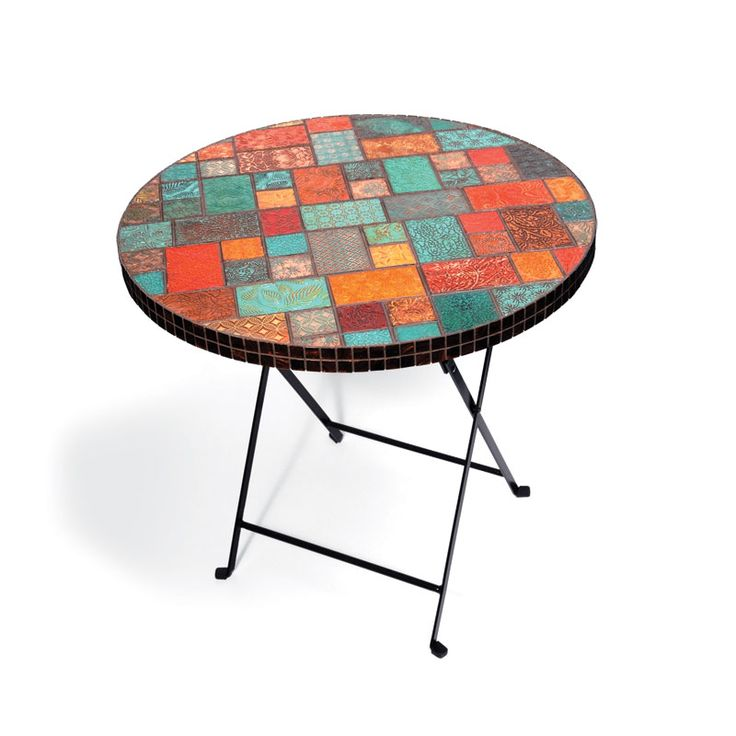 Table with Embossed Tiles / Sizzix Blog - The Start of Something You