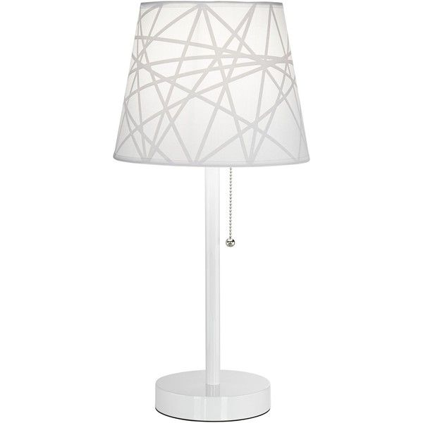 Universal lighting and decor flesner white accent table lamp with usb 52