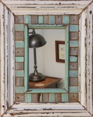 This Beautiful Reclaimed Wood Mirror Measures 16 X 20 It Is Made From Bathroom