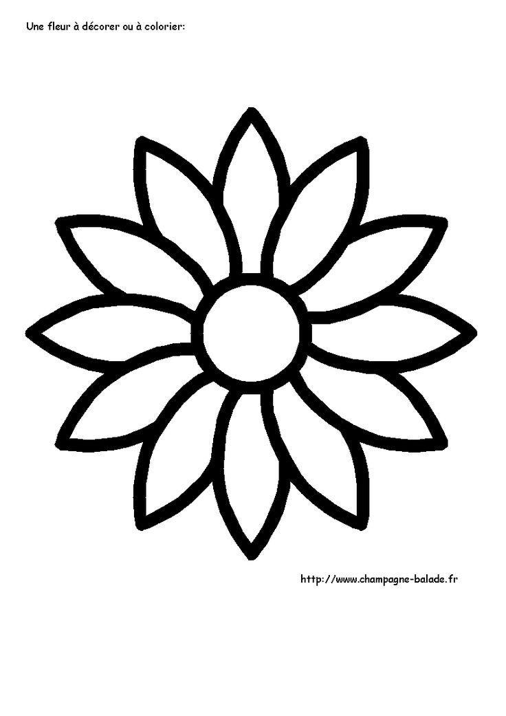 Coloriage Fleur à colorier Dessin à imprimer   Coloriage fleur, Coloriage fleur à imprimer ...