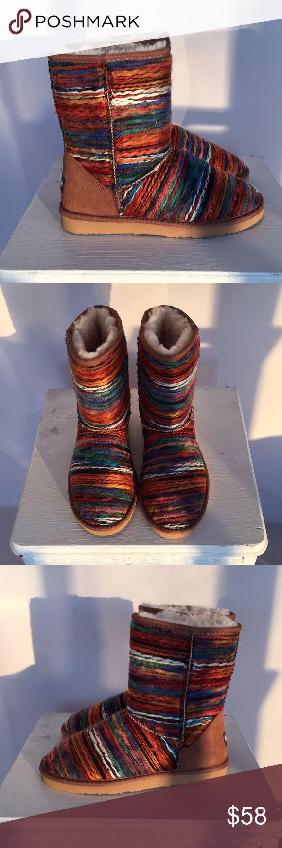 Spotted while shopping on Poshmark: Lamo Juarez Sheepskin Multi-Colored Boots! #poshmark #fashion #shopping #style #Lamo Juarez #Shoes