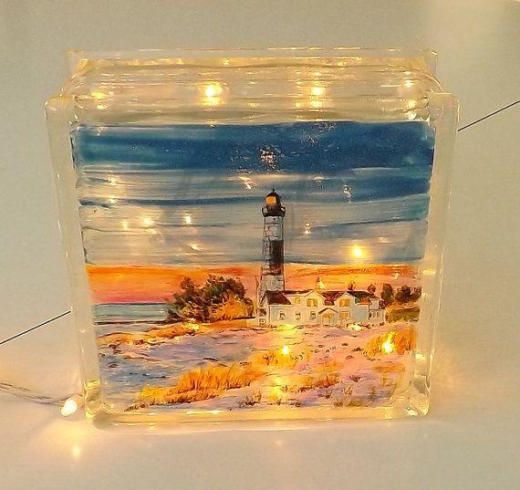 285 best painted lighthouse images on pinterest light for Custom acrylic blocks
