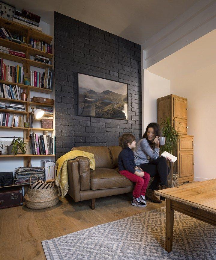 41 best stonetack images on pinterest paint primer - Revestimiento paredes interiores pizarra ...