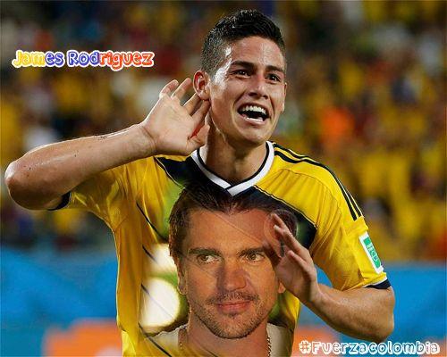 Fotomontaje en la camiseta del 10 de Colombia James Rodriguez