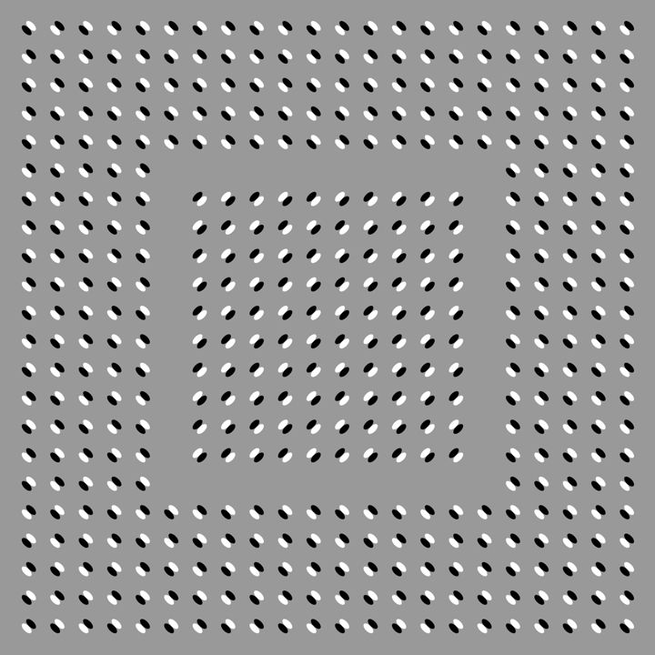 """""""Anomalous motion illusion 20"""" - How long can you keep it still? ~8^]>"""