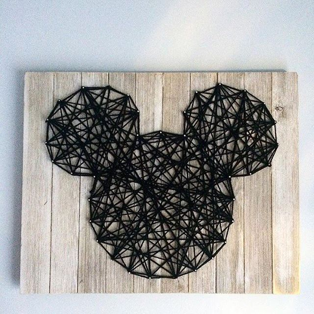 Best 25 string wall art ideas on pinterest string art darth one of our favorite diys weve done is our mickey string wall art prinsesfo Gallery